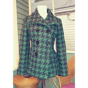 Checkered Pea Coat